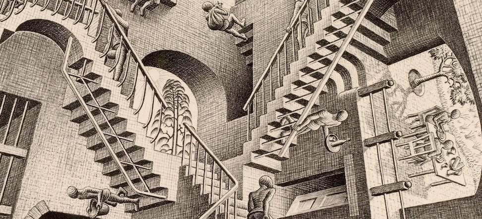 Relativity, M C Escher